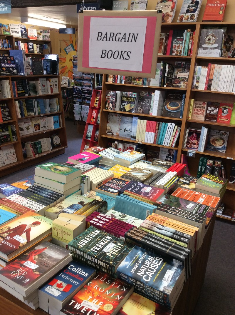 more bargain books at Volume One Bookstore, Duncan