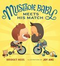 Cover image for Mustache Baby Meets His Match (board book)