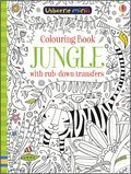 Cover image for Colouring Book Jungle With Rub-Down Transfers